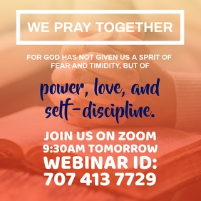 Pray Online Webinar Template Квадрат (1 : 1)