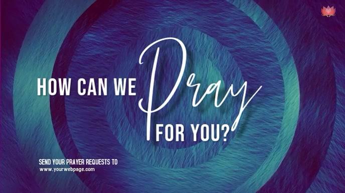 Pray Video Digitale display (16:9) template