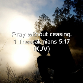 Pray without ceasing Design