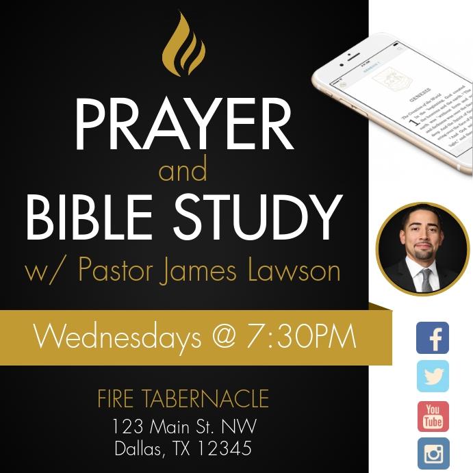 Prayer & Bible Study Instagram 帖子 template