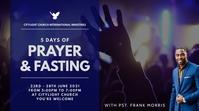 prayer and fasting church flyer Digital Display (16:9) template