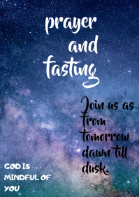 PRAYER AND FASTING FLYER A4 template