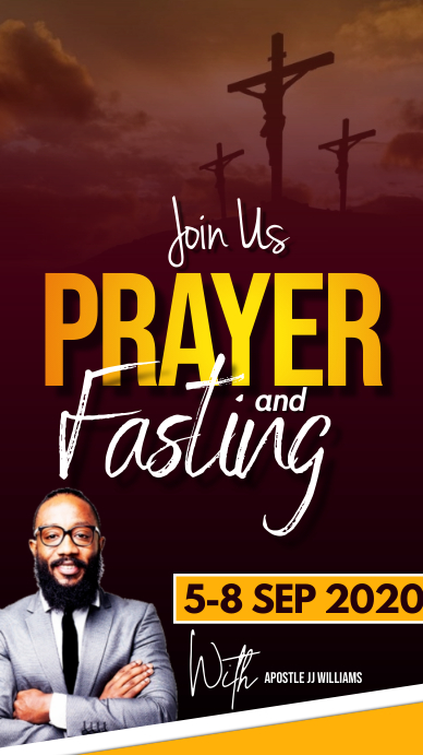 Prayer and fasting flyer Instagram Story template