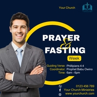 Prayer and fasting week Instagram Post template
