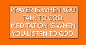 PRAYER AND MEDITATION QUOTE TEMPLATE Facebook-Anzeige