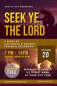 Prayer and Worship Night Church Service