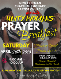 Prayer Breakfast 2018 Program Cover