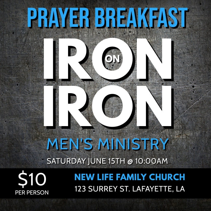 PRAYER BREAKFAST CHURCH FLYER