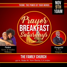 PRAYER BREAKFAST SATURDAYS CHURCH FLYER