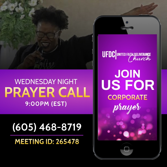 Prayer call flyer Instagram Plasing template