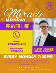Prayer Call Line Church Flyer