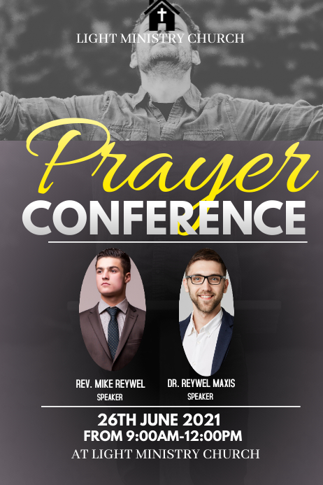 Prayer Conference 海报 template