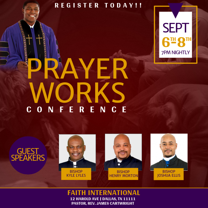 Prayer Conference Pos Instagram template
