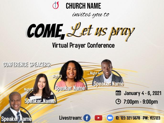 Prayer Conference_4 speakers Presentazione template