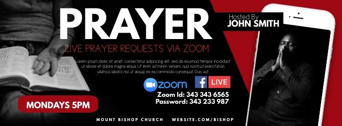 Prayer รูปภาพหน้าปก Facebook template