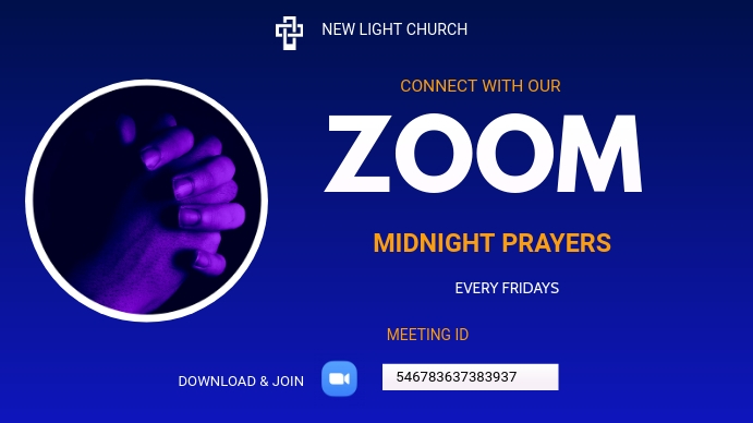 Prayer flyers Twitch Banner template