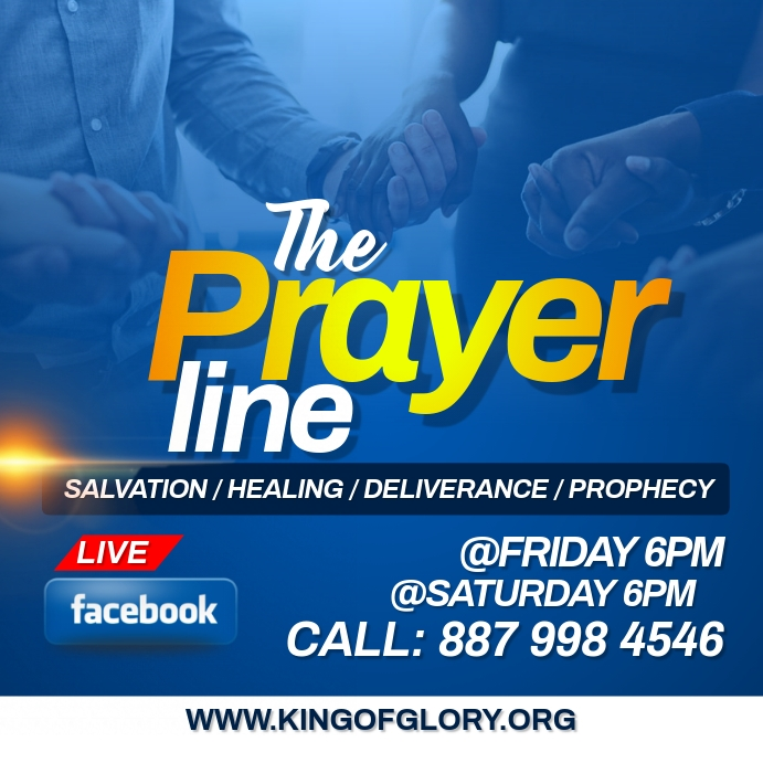 Prayer line flyer Pos Instagram template