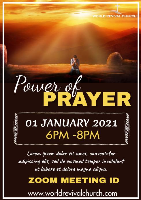 Prayer meeting A3 template