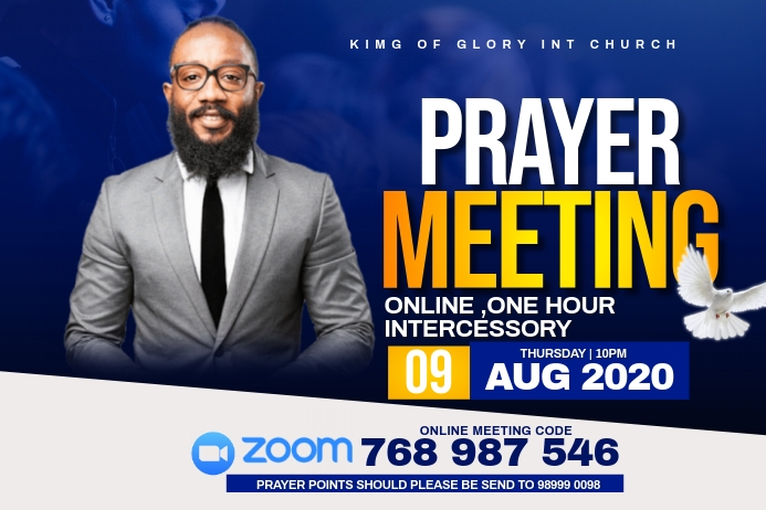 prayer meeting flyer Etiket template