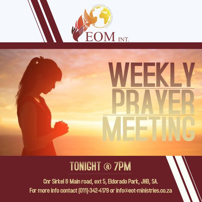 Prayer Meeting service Template