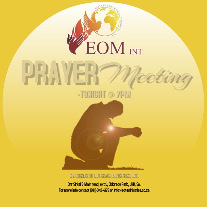 Prayer Meeting service Template Instagram Post