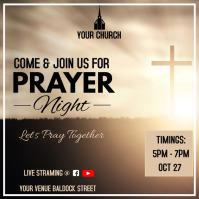 Prayer night church event online