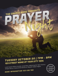 Prayer Night Church Flyer Template
