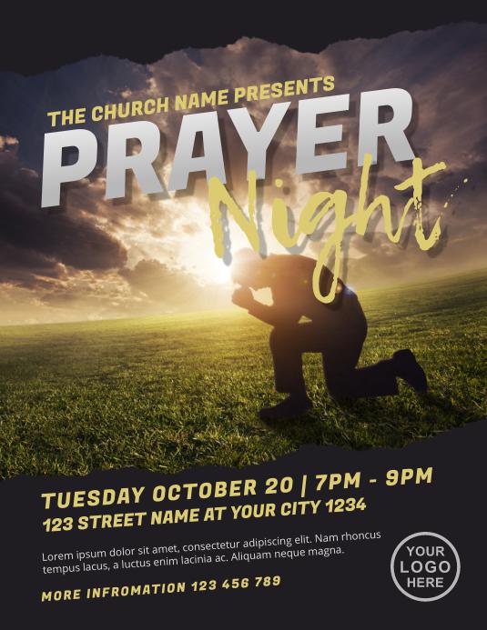 Prayer Night Church Flyer Template