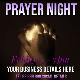 prayer night Instagram Post template