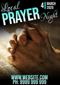 prayer night A5 template