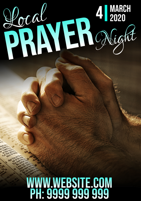 prayer night A5 template