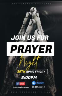 prayer night Tabloide template