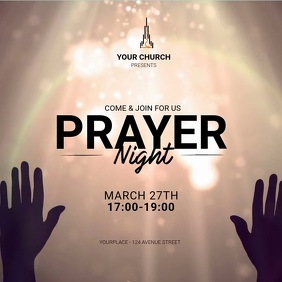 Prayer Night Instagram Ad Template 方形(1:1)