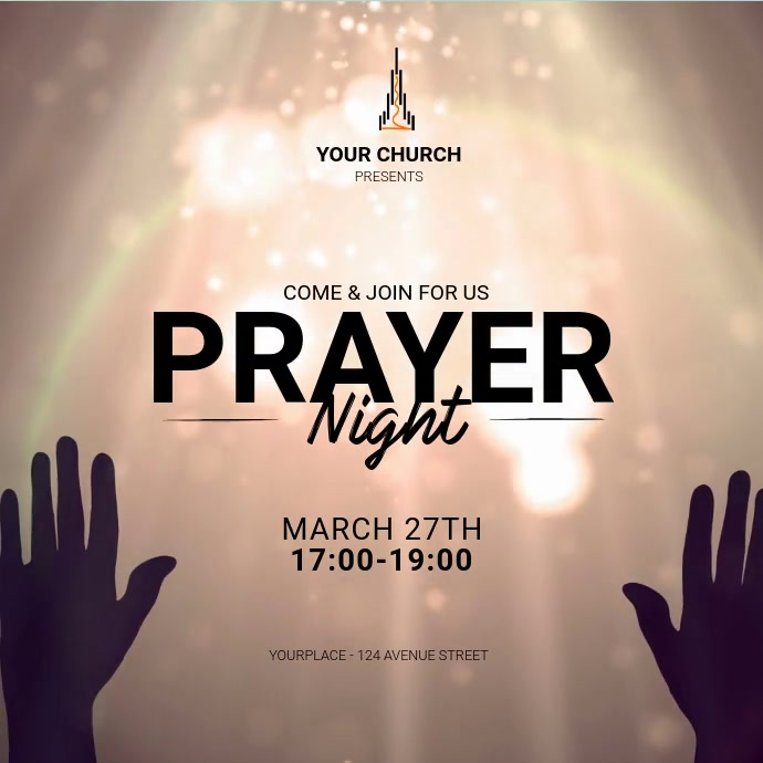 Prayer Night Instagram Ad Template Isikwele (1:1)