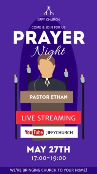 Prayer night video ad template Digital na Display (9:16)