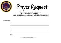 Prayer request card Postcard template