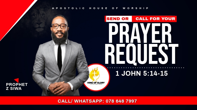 PRAYER REQUEST FLYER Digitale Vertoning (16:9) template