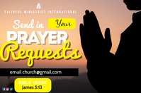 prayer requests Poster template