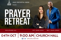 Prayer retreat Label template