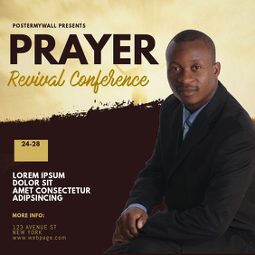 Prayer Revival Conference instagram Template