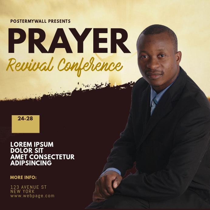 Prayer Revival Conference instagram Template