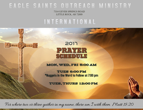 Prayer Schedule Flyer