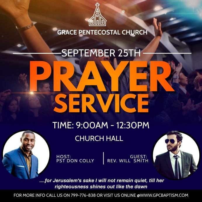Prayer service Cuadrado (1:1) template