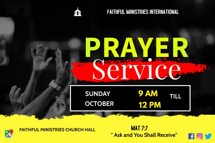 prayer service Plakkaat template