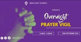 Prayer service flyer Immagine condivisa di Facebook template