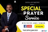prayer service flyer Poster template