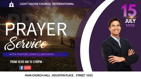 prayer service flyer Digital Display (16:9) template