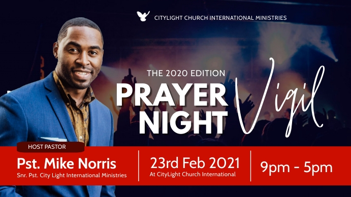 prayer vigil church flyer Digitale display (16:9) template