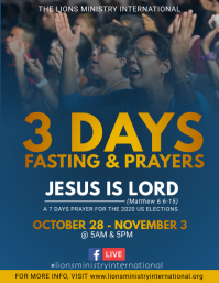 Prayers and Fasting Event Flyer
