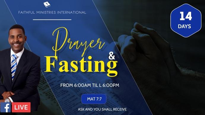 Prayers and fasting flyer Digitalt display (16:9) template